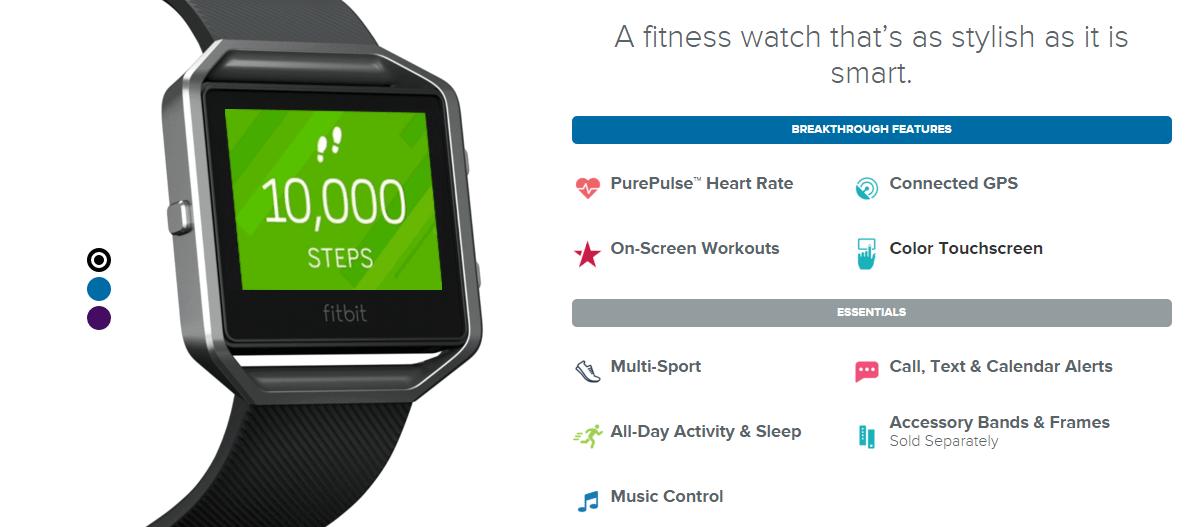 Fitbit Blaze  chytré hodinky pro sport a fitness 91106f3d0c6