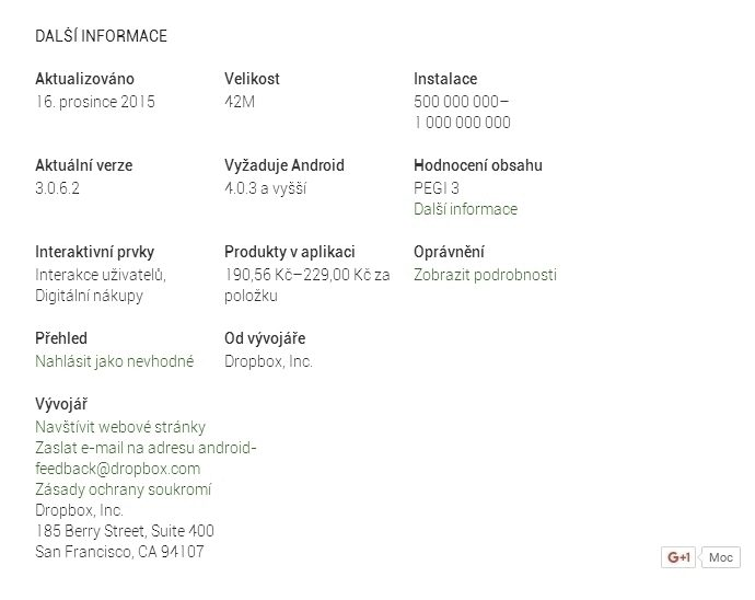 Dropbox překročil na Androidu hranici 500 milionů instalací