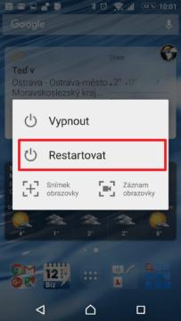 Restart může pomoci vyřešit pomalý Android