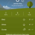 Počasí od Sony