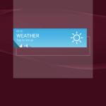 Vytažení widgetu