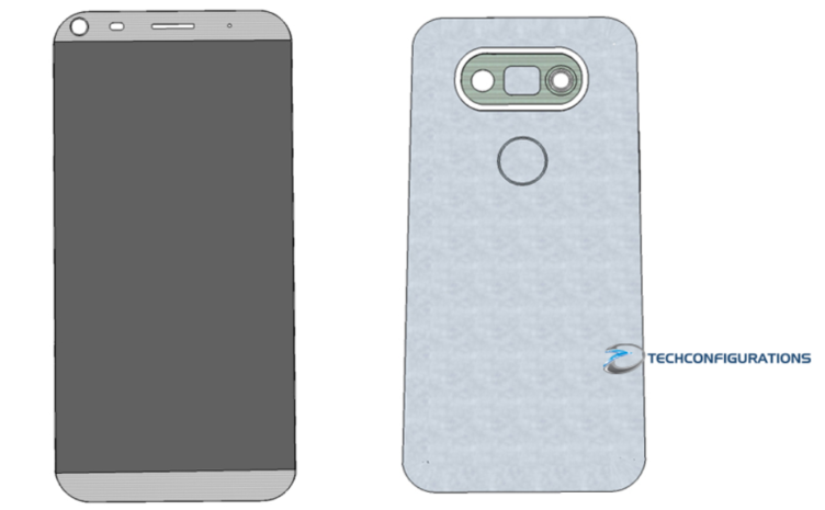 Render údajné podoby LG G5