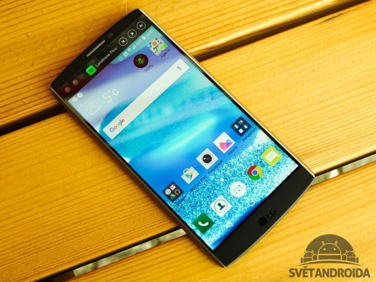 LG V10 - konstrukce, pohled zepředu (1)