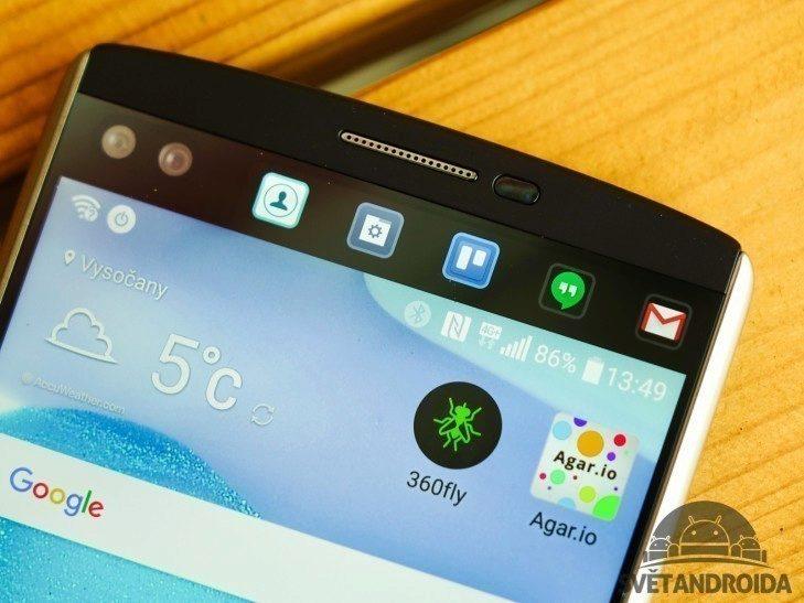 LG V10 - sekundární displej, ukázka (2)