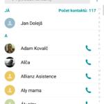 LG V10 – systém Android, kontakty (2)