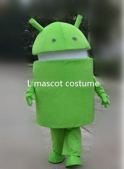 Professional-New-Android-Robot-Mascot-Costume-Dress-Adult-Size-Free-shipping