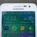 Samsung Galaxy A3 – reproduktor, senzory, objektiv