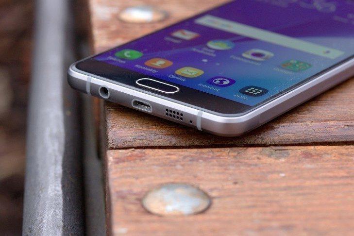 Samsung Galaxy A5 (2016) spodní strana