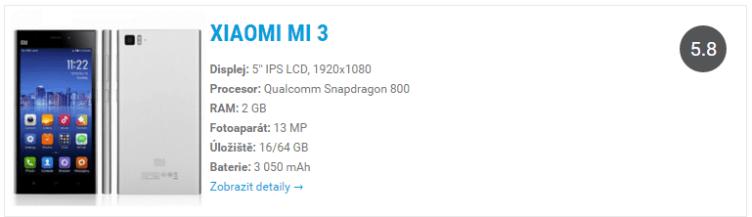 Xiaomi MI3 katalog
