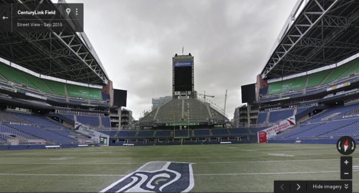 Google Street View - návštěvy stadionů