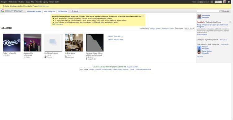 Picasa již na webu oznamuje svůj konec