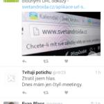 Také Twitter poslouží pro sledování aktualit