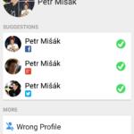 Editace přidružených profilů
