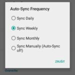 Nastavení automatické synchronizace