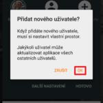 Dialog pro přidání nového uživatele