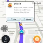 Jiného uživatele v mapě můžeme kontaktovat