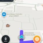 Informace během jízdy