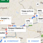 Tak vyhledávají body na trase Mapy Google