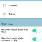 Nastavení sociálních sítí
