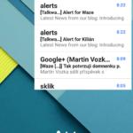 Widget aplikace Gmail