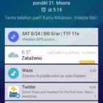 Zobrazení informací na odemykací obrazovce