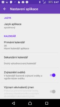 Nastavte si český kalendář
