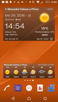 Počasí & Clock Widget Android