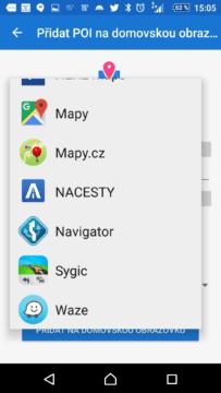 Výběr navigace