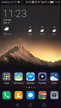 Widget počasí EMUI