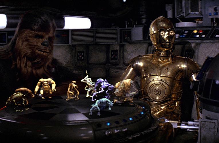 Dejarik_Chewbacca_C-3PO