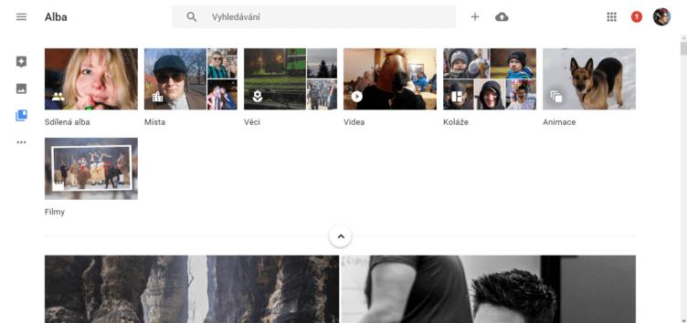 Google Fotky - aktualizace i na webu