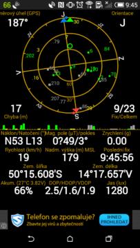 HTC Desire 620 -  GPS satelity