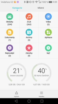 Huawei Mate 8 file manager