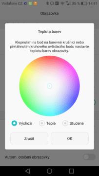 Huawei Mate 8 kalibrace barev