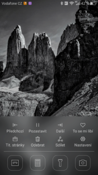 Huawei Mate 8 lockscreen rychlý přístup