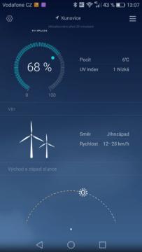 Huawei Mate 8 počasí 2