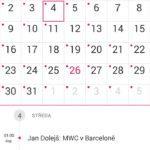 Lenovo P70 – kalendář