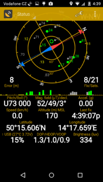 Motorola Moto X (2014) - GPS satelity