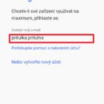 Přihlášení účtem Google