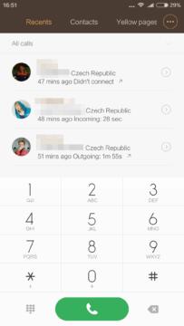 Xiaomi Mi4S – dialer