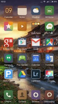 Xiaomi Mi4S – home – aplikace
