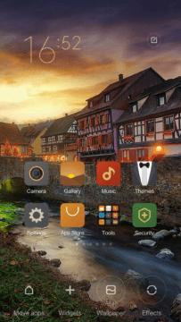 Xiaomi Mi4S – homescreen – nastavení