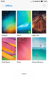 Xiaomi Mi4S – nastavení témat