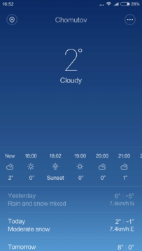 Xiaomi Mi4S – počasí