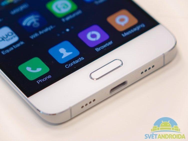Xiaomi Mi5 - konstrukce, čtečka otisků prstů