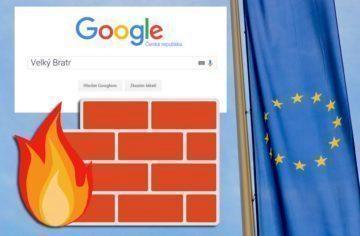 Velký evropský firewall: Google neukazuje skutečné výsledky vyhledávání