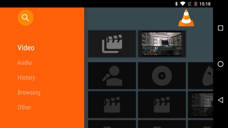 VLC v rozhraní pro Android TV