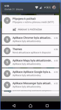 Aplikace s vypnutými tlačítky
