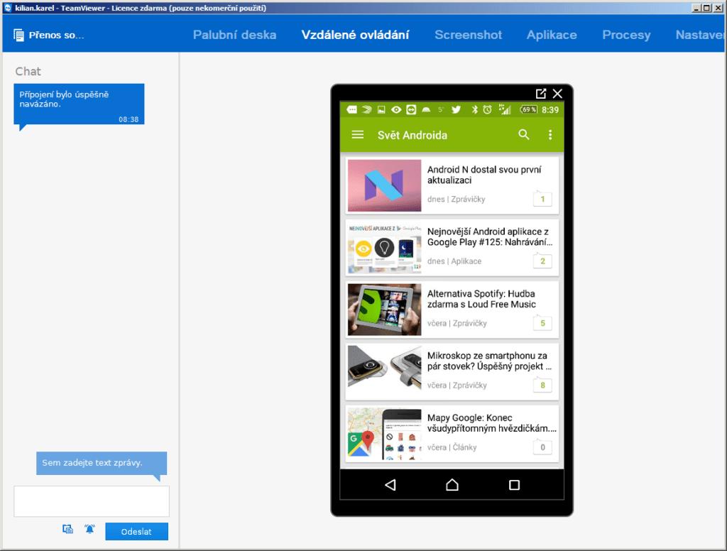 Vzdálené ovládání zařízení s Androidem - padl další z mýtů