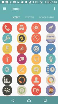 První z deseti balíčků ikon: Retron icon pack